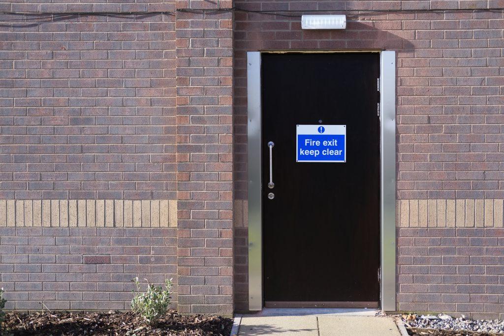 external fire door