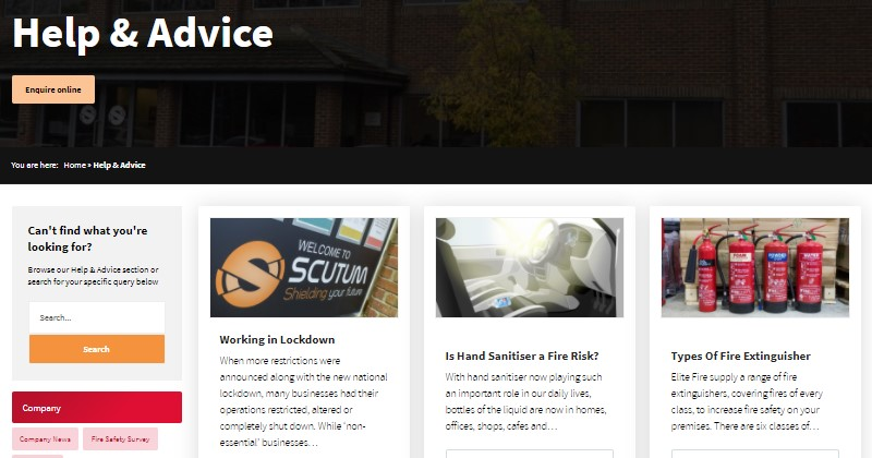 elite fire protection - help and advice centre