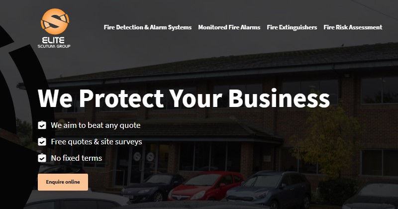 elite fire protection's new website